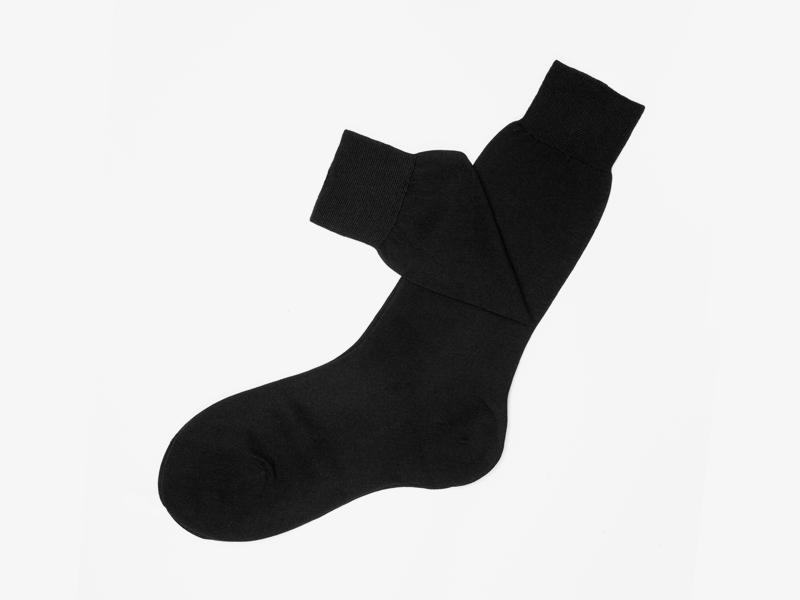 Чёрные носки из 100% хлопка pernobile.com