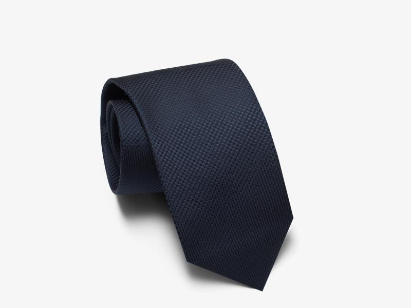 Шёлковый галстук в мелкую сине-белую полоску pernobile.com
