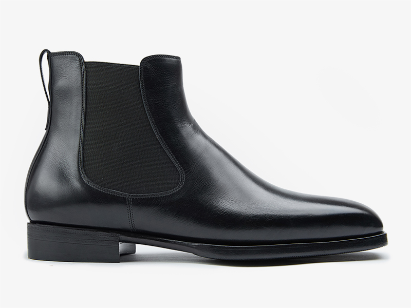 Чёрные мужские ботинки челси из кожи телёнка pernobile.com