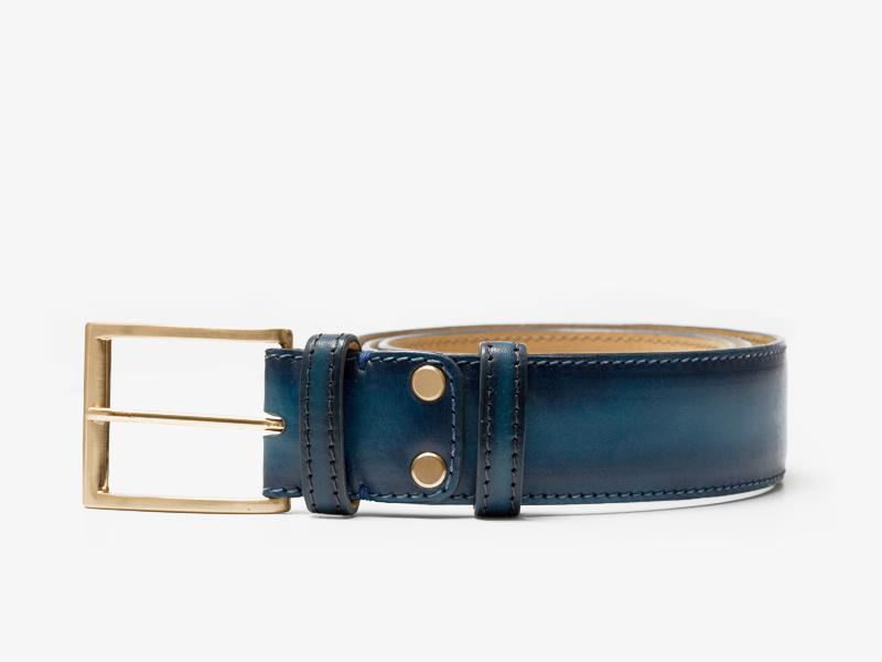 Ремень кожаный синий Per Nobile