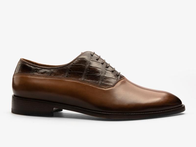 Комбинированные кожаные оксфорды pernobile.com