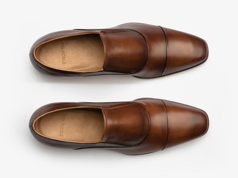 Кожаные оксфорды без шнуровки из кожи телёнка Per Nobile