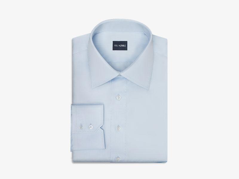 120)Классическая хлопковая голубая сорочка