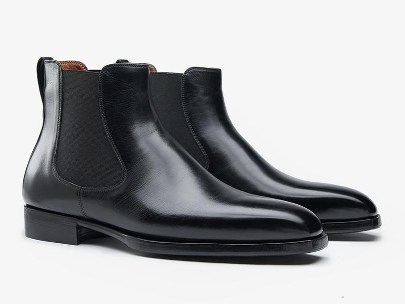 Чёрные мужские ботинки челси из кожи телёнка Per Nobile