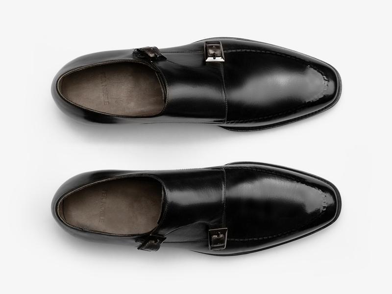 Монки чёрные с двойной пряжкой Per Nobile