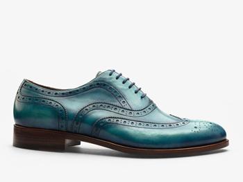 85)Кожаные броги на шнуровке