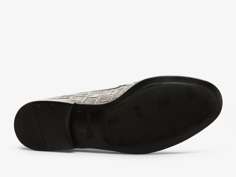 Классические мокасины из кожи крокодила Per Nobile