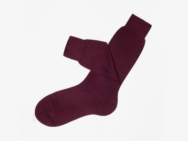101)Бордовые носки Bresciani 1970 из 100% хлопка