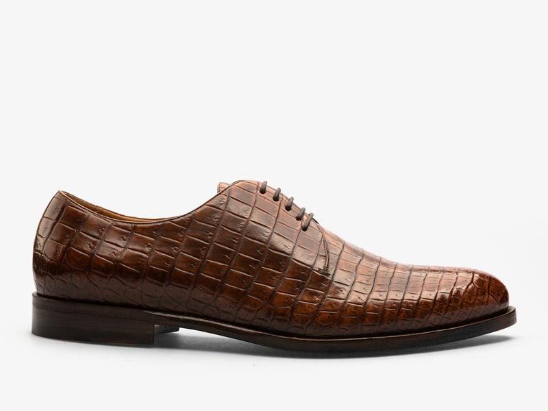 141)Классические дерби из кожи крокодила