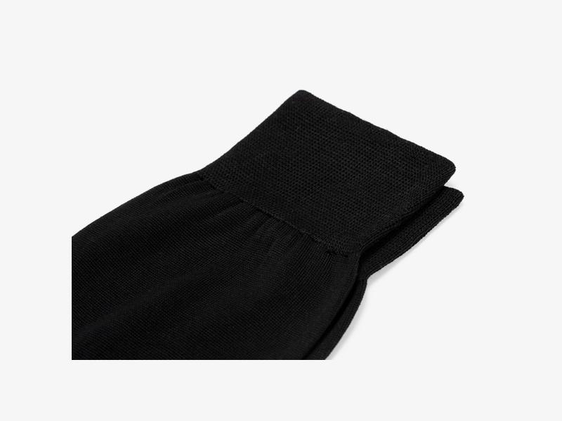 Чёрные носки из 100% хлопка
