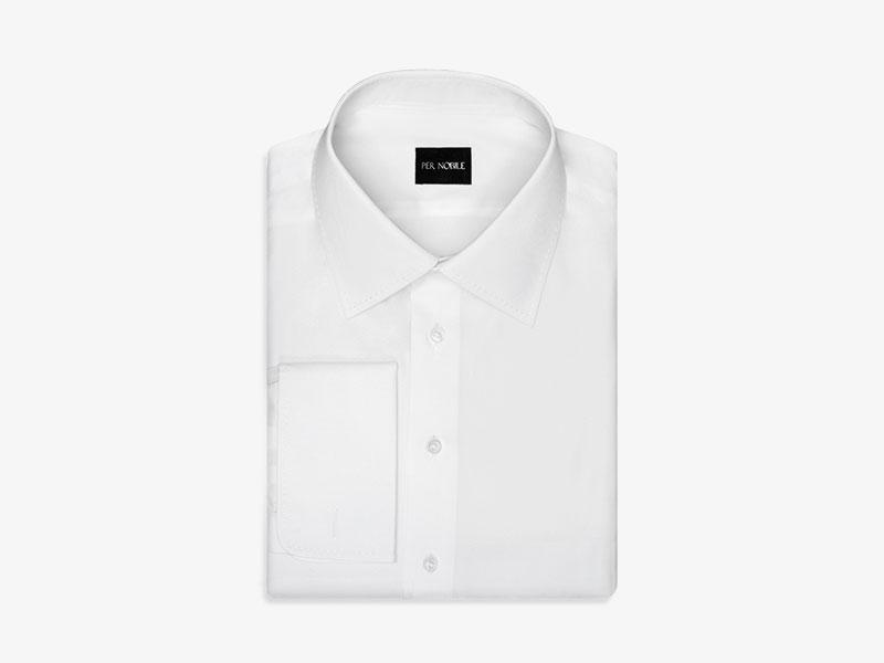 116)Белоснежная сорочка под запонки