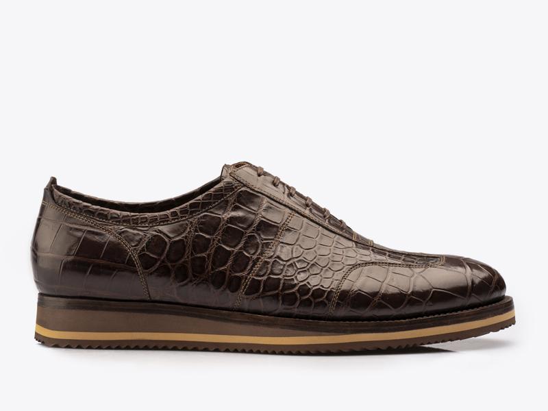 218)Туфли спортивные из кожи крокодила