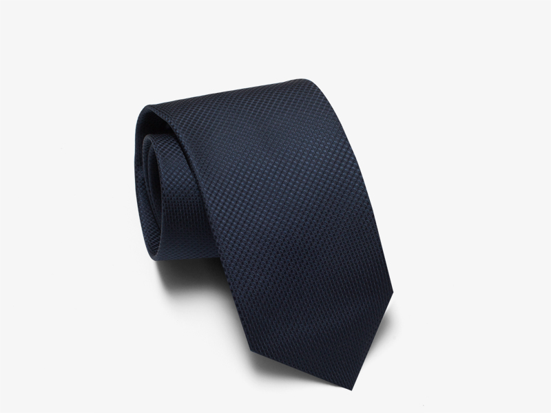 123)Галстук тёмно-синий шёлковый