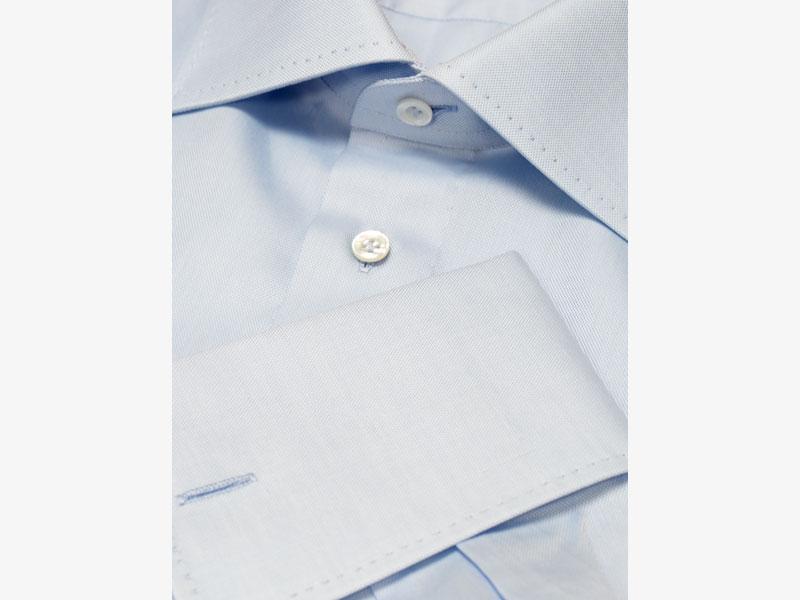 Голубая сорочка с развёрнутым воротником Per Nobile