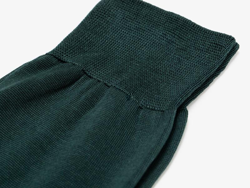 Зелёные носки из 100% хлопка