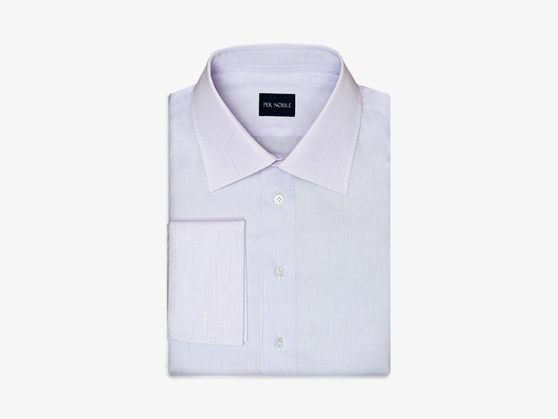 119)Хлопковая сорочка с манжетами под запонки