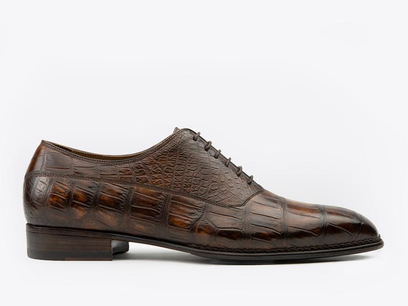 208)Оксфорды балмолар из кожи крокодила