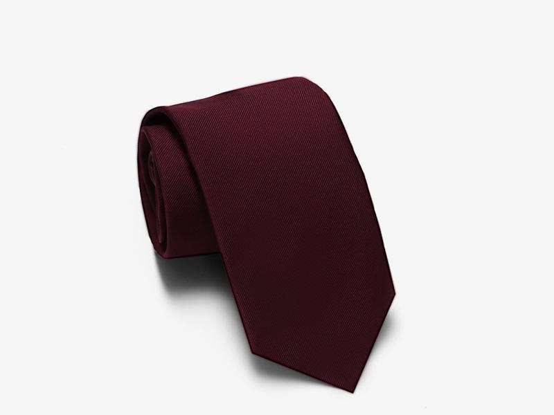 97)Бордовый галстук из шёлка