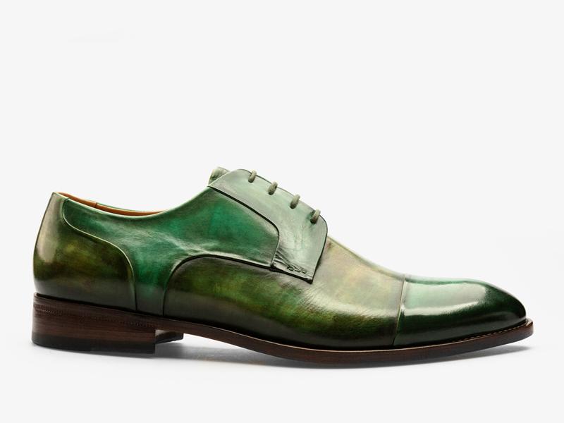 151)Дерби зелёные со скрытым французским швом