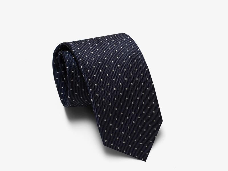 124)Шёлковый галстук с узором