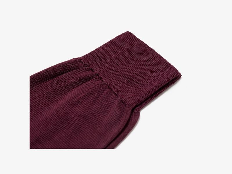 Носки из 100% хлопка бордовые