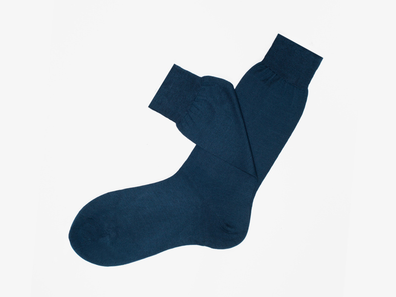 100)Синие носки Bresciani 1970 из 100% хлопка
