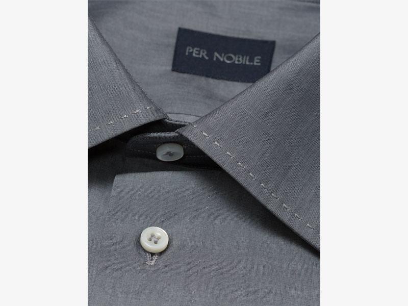 Тёмно-серая хлопковая сорочка Per Nobile