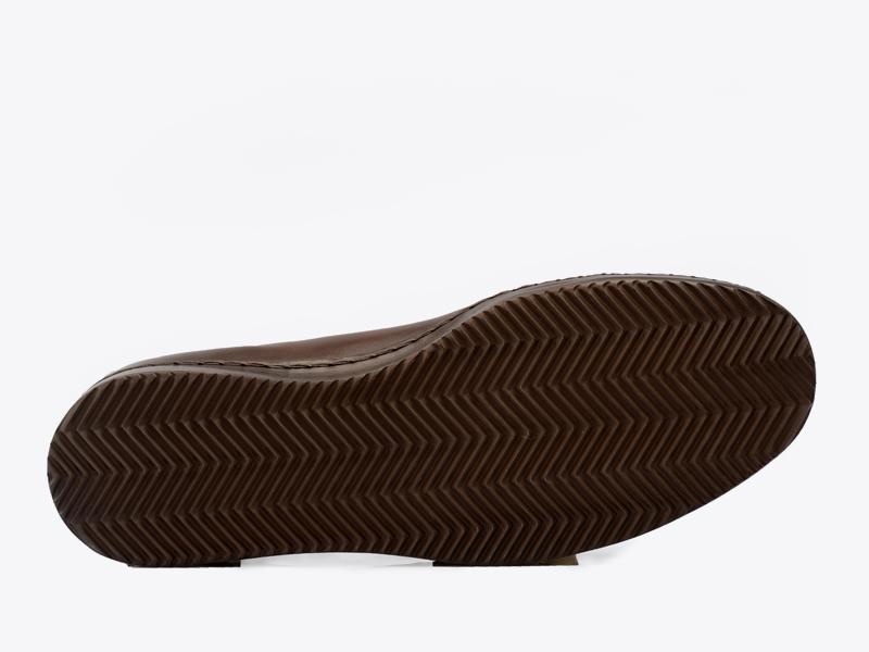 Кожаные кеды на шнуровке Per Nobile