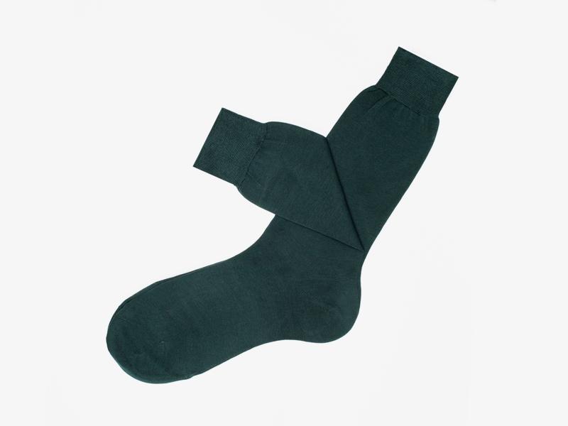 103)Зелёные носки Bresciani 1970 из 100% хлопка