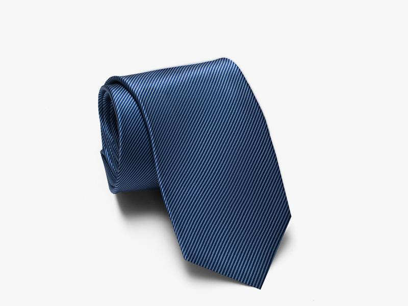 99)Шёлковый галстук в мелкую полоску