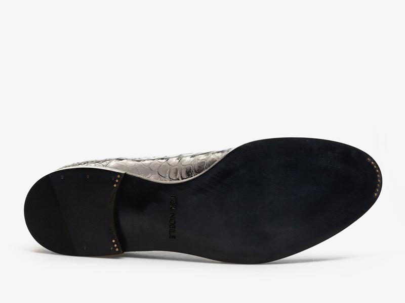 Оксфорды из кожи крокодила с орнаментом Per Nobile
