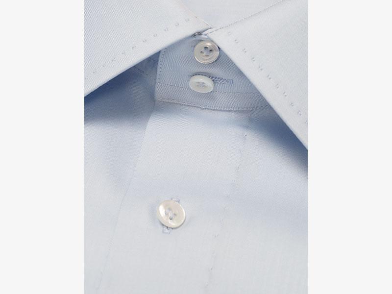 Классическая хлопковая голубая сорочка Per Nobile