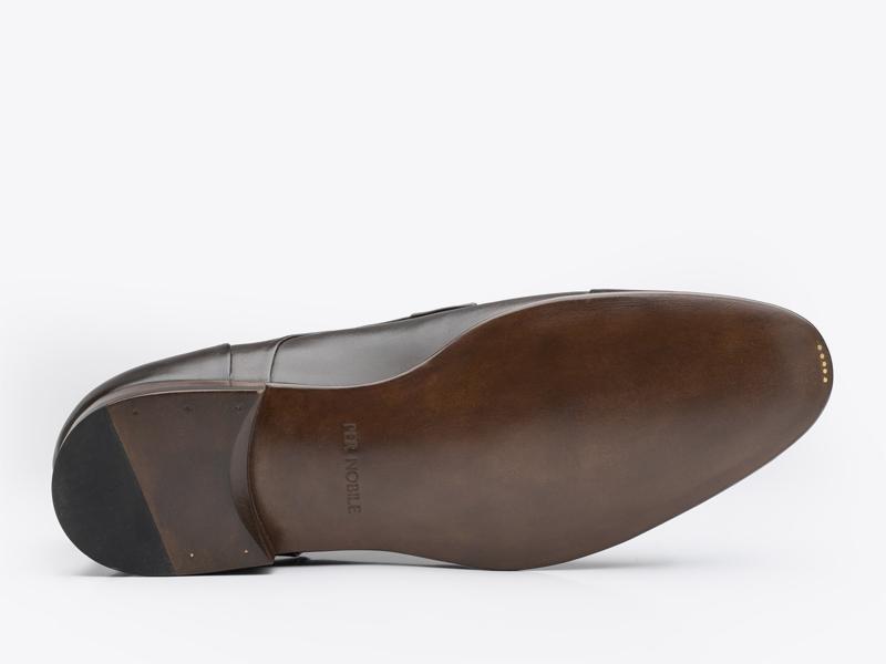 Дерби коричневые со скрытым французским швом Per Nobile