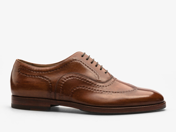 145)Оксфорды коричневые с декоративной отделкой
