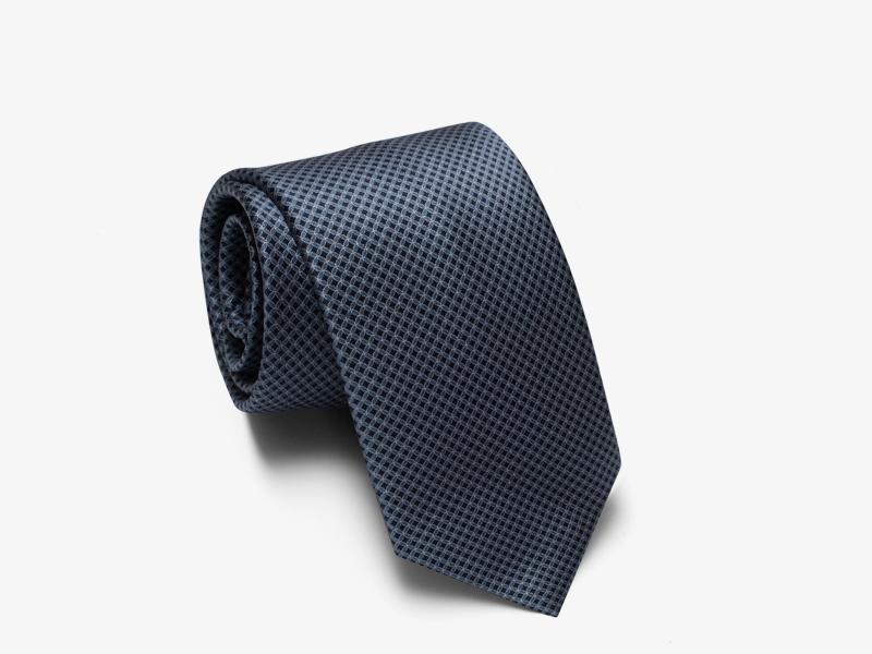 125)Шёлковый галстук с микроузором
