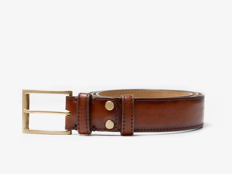 111)Патинированный кожаный ремень